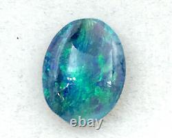 Cristal Solide Noir Naturel Opal 0.70ct Australian Lightning Ridge Opal