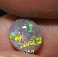 Crystal Opal Lightning Ridge Solide En Pierre Cabochon 1.35 Cts + VID