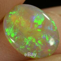 Crystal Opal, Solide Naturel Australien, Pierres Précieuses De Couleurs Vert / Bleu Vives De 1,00 Ct