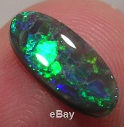 Cs046 N2 4/5 Solide Opale Noire Lightning Ridge 0.97ct