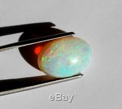 Délie Solides Opal 8,46 Carats Des Tonnes De Green Flash 18mm Par 13mm Australian