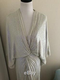 Diane Von Furstenberg Dvf Jessi Opal Robe À Sequins Us 2 4
