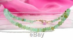 Écume Authentique Nouée Vert Bracelet Opale Peruian Or 14k Solide De 2 MM 7