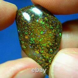 Electric Greens 20ct Natural Australian Solid Yowah Boulder Opal Voir La Vidéo