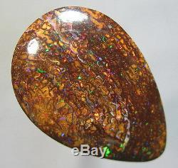 Électrique Red & Green Australian Natural Solid Yowah Boulder Opal Vidéo