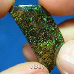 Électrique Verts Australian Natural Solide Koroit Boulder Opal Voir La Vidéo