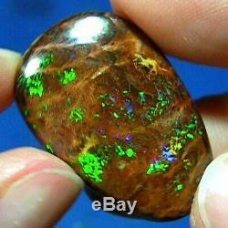 Électrique Verts Australian Natural Solide Matrice Boulder Opal Voir La Vidéo