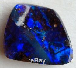 Élégant! 8ct Solid Black Boulder Opal Blue & Green Freeform Queensland