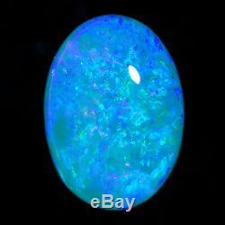 Exceptionnel 4.28ct Aqua-vert-bleu Solid Crystal Opal Lightning Ridge