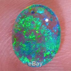 Exceptionnel Vert Bleu Aqua 1.36ct 9x8mm Solid Crystal Opal Lightning Ridge