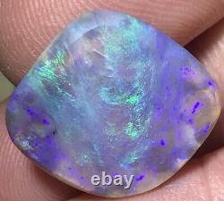 Faire L'offre Belle Vert Violet 8.9ct Solid Lightning Ridge Dark Crystal Opal