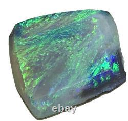 Faites Une Offre! Belle Aqua Vert 5.20ct Solid Lightning Ridge Dark Crystal Opal