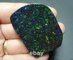 Fée D'opale Brute Rub Vert & Bleu Opale Matrice Solide Noir Spécimen Lapidaire
