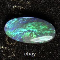Fiery Flashs Solid Lightning Ridge Australien Black Opal Stone 13104
