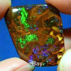 Flashes Lumineux De Couleur 52ct Australian Natural Solide Matrice Boulder Opal