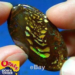 Flashy Greens Opale Yowah Boulder Naturelle Australienne Naturelle 28ct Voir La Vidéo