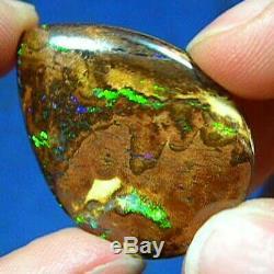 Flashy Verts Australian Natural Solide Yowah Boulder Opal Voir La Vidéo