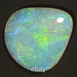 Flawless 6.51ct Vert Bleu Mauve 17x16mm Solide Crystal Opal Lightning Ridge