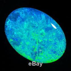 Flawless 8.76ct Aqua Green Blue 20x15mm Solide Semelle De Cristal Opal Lightning Ridge