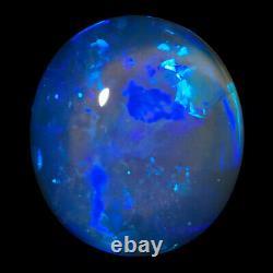 Flawless Mauve Blue Green 2.66ct 10x9mm Solid Dark Crystal Opal Lightning Ridge