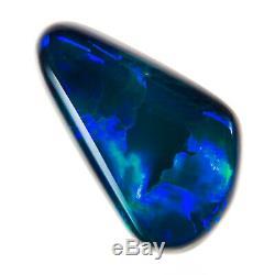 Gem Qualité Saphir Vert 1.52ct 12x7mm Solid Black Opal Lightning Ridge