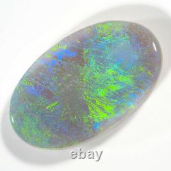 Glorieux 5.92ct Blue Green Multi 17x10mm Solide Semi Black Opal Lightning Ridge