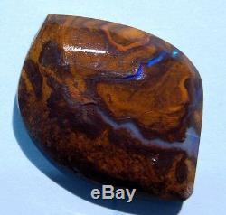 Grand Opale Australienne Du Queensland Boulder Opale Unie Brillante Bleus Et Verts 70ct