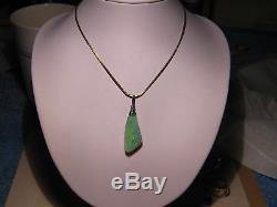 Grand Pendentif D'opale Semi-noire Australienne Massive De 12,5 Ct En Or Blanc 14k