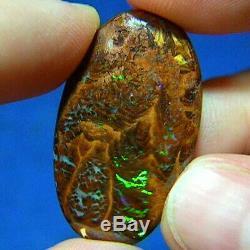 Green & Violet 23ct Australian Natural Solide Yowah Boulder Opal Voir La Vidéo