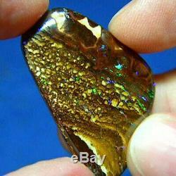 Green & Violet 40ct Australian Natural Solide Yowah Boulder Opal Voir La Vidéo