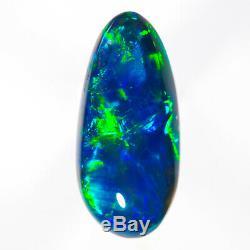Imbattable Saphir-vert 1.39ct 10x5mm Solid Black Opal Lightning Ridge