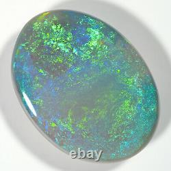 Impressionnant 6.01ct Shamrock Green 15x11mm Solid Semi Black Opal Lightning Ridge