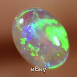Impressionnant Brillant Greens Solide Australien Lightning Ridge Cristal Noir Opal 13665