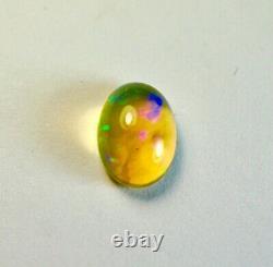 Jolie Aust. 9x7 MM Lightning Ridge 1,67 Ct. Solide Cristal Opal Noir