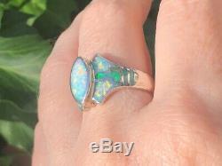L'amour! Mesdames Ring 8 Elven David Freeland Bleu Vert Solide Bresilien Opal 300 $