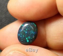 La Foudre Black Opal Ridge Australian Solide Stone, Cabochon 2,75 Ct