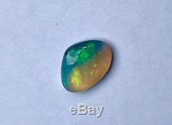 La Foudre Turquoise Green Ridge Solide 3.85ct Opal Beauté Forme Freeform