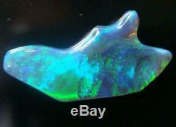 Lightning Ridge Australien Gem Black Solid Opale Carving (+ Vid)