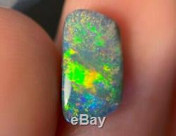 Lightning Ridge Gem Solid Opale Noire Vert Jaune Brillant Lumineux Fire0.95ct