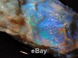 Lightning Ridge Gem Solide Opal Océan Bleu / Vert Nobby Brut 137 Ct (+ Vid)