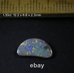 Lightning Ridge Opale Noire Solide Avec De Belles Couleurs Mulit Brillantes! 1.30ct