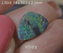 Lightning Ridge Solide Black Opal Avec Brilliant Grand Aqua Blue Couleurs! 2.50ct
