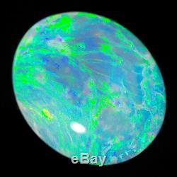 Magnificent Aqua Vert Bleu 3.48ct 14x11mm Solid Crystal Opal Lightning Ridge