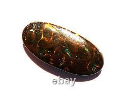 Natural Australian Boulder Matrix Opal Solid Cut Stone Green Blue 20ct (2339)