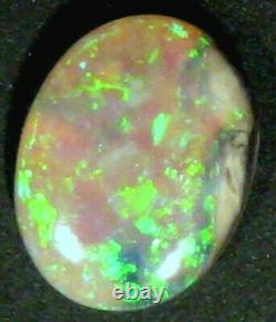 Naturel Vibrant Cristal Australien Opal Coupe Solide Pierre 9x7mm (755)