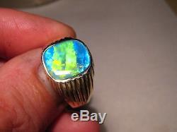 Neon Multi Color Bague Pour Homme Avec Opale Australienne Et Joyau Pour Homme