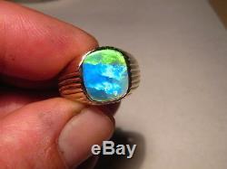bague homme opale noire
