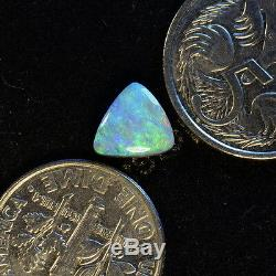 Nice Greens & Blues Solid Australian Lightning Ridge Semi-noir Opal Stone 10686