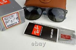 Nouveau Ray-ban Wayfarer Rb2132 630971 Noir Mat Sur Glace Opale Gradient Gris 55mm