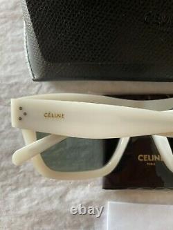 Nouvelles Lunettes De Soleil Celine Cl40009i 21n Opal Blanc/vert 51mm Unisexe Square